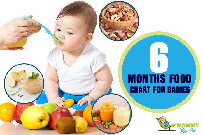 6 months food chart for babies